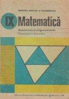 Geometrie si trigonometrie. Manual pentru clasa a IX-a