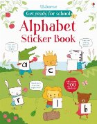 Get ready for school alphabet sticker book