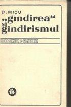 Gindirea si Gindirismul (D. Micu)