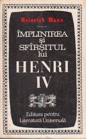 Implinirea si sfarsitul lui Henri IV, Editia a II-a