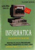 Informatica - Varianta Pascal, Manual pentru clasa a IX-a