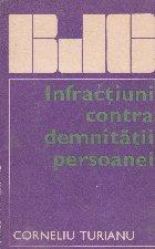 Infractiuni contra demnitatii persoanei