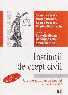 Institutii de drept civil. Curs selectiv pentru licenta 2006-2007. Teste grila