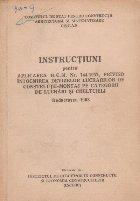 Instructiuni pentru aplicarea HCM nr 744/1957. privind intocmirea devizelor lucrarilor de constructii-montaj pe categorii de lucrari si cheltuieli. Redactarea 1963