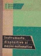 Instrumente, dispozitive si masini matematice