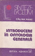 Introducere in Ontologia generala