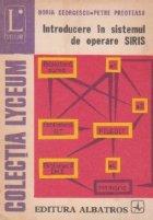 Introducere sistemul operare SIRIS