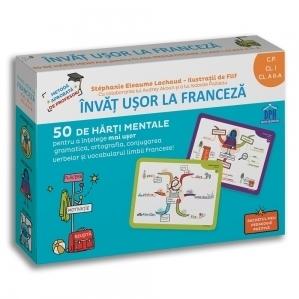 Invat usor la franceza. 50 de harti mentale