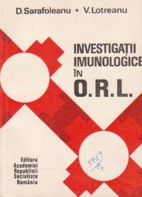 Investigatii imunologice in O.R.L