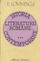 Istoria literaturii romane contemporane, Volumul al III-lea