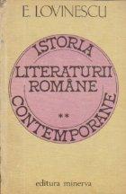 Istoria literaturii romane contemporane Volumul