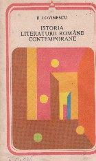 Istoria literaturii romane contemporane - 1900-1937