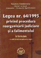 Legea 64/1995 privind procedura reorganizarii