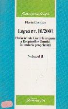 Legea nr. 10/2001 Hotarari ale CEDO in materia proprietatii, Volumul al II-lea