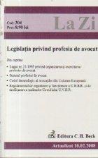 Legislatia profesiei avocat (actualizat 2008)