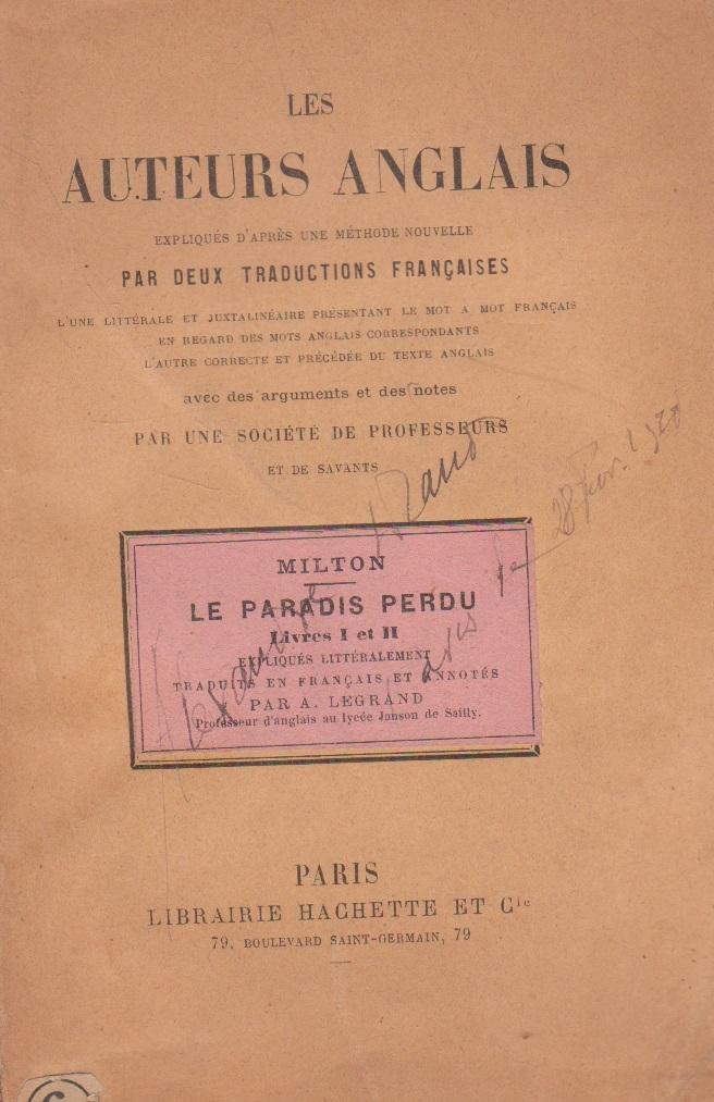 Les Auteurs Anglais - Paradise Lost / Le Paradis Perdu