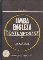 Limba engleza contemporana - Lexicologie