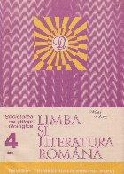 Limba literatura romana 4/1983 Revista