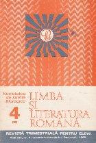 Limba literatura romana 4/1985 Revista