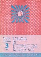 Limba si literatura romana, Nr. 3/1986 - Revista trimestriala pentru elevi
