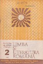 Limba si literatura romana, Nr. 2/1988 - Revista trimestriala pentru elevi