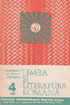 Limba si literatura romana, Nr. 4/1989 - Revista trimestriala pentru elevi