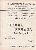 Limba Romana, Fascicula 1 - Curs practic pentru anul pregatitor studenti straini