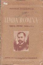 Limba Romana, Manual pentru clasa a VI-a (Editie 1955)