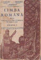 Limba romana pentru gimnaziile si liceele comerciale de baieti si fete, Clasa I