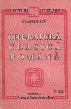 Literatura clasica romana, Clasele I-IV, Volumul al II-lea