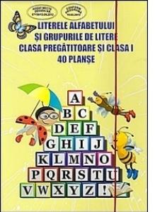 Literele alfabetului si grupurile de litere. Clasa pregatitoare si clasa I. 40 planse