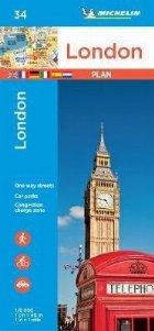 London - Michelin City Plan 34