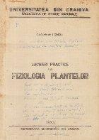 Lucrari practice la Fiziologia Plantelor