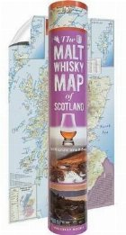 Malt Whisky Map of Scotland (in a tube)