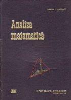 Manual de analiza matematica, Volumul al II-lea - Calculul integral. Ecuatii diferentiale