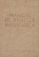 Manual de analiza matematica, Volumul al II-lea