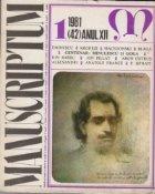 Manuscriptum 1/1981