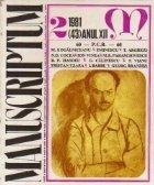 Manuscriptum 2/1981