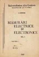 Masurari electrice si electronice, Volumul I, Fascicula 1 - Curs pentru uzul studentilor