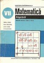 Matematica - Algebra, Manual pentru clasa a VII-a
