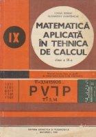 Matematica aplicata tehnica calcul Clasa