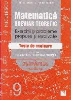 Matematica Clasa A IX A Breviar Teoretic Exercitii Si