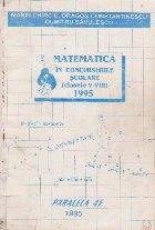 Matematica in concursurile scolare (clasele V-VIII) 1995