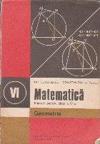 Matematica - Geometrie, Manual pentru clasa a VI-a