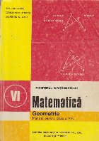 Matematica - Geometrie, Manual pentru clasa a VI-a, Editie 1994
