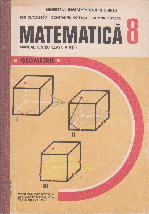 Matematica. Geometrie. Manual pentru clasa a-VIII-a