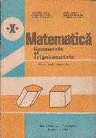 Matematica - Geometrie si trigonometrie. Manual pentru clasa a X-a