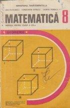 Matematica, Manual pentru clasa a VIII-a - Geometrie
