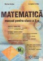 Matematica. Manual pentru clasa a X-a M1
