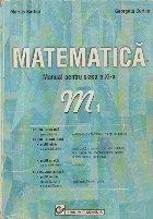 Matematica - Manual pentru clasa a XI-a, M1